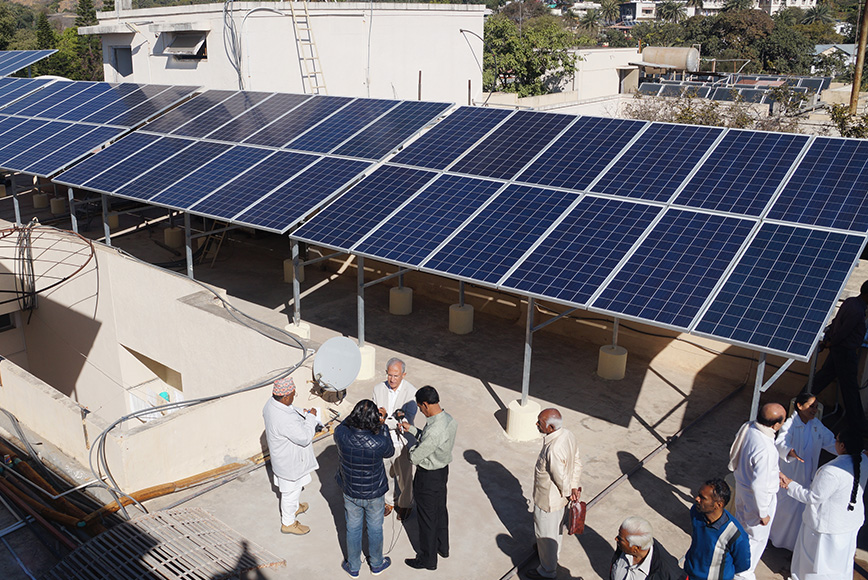 zonnepanelen op palen
